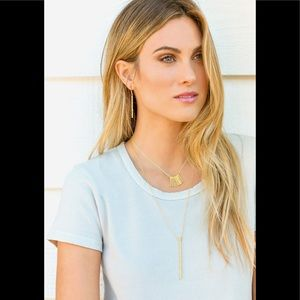 Gorjana gold Kylie earrings and necklace set